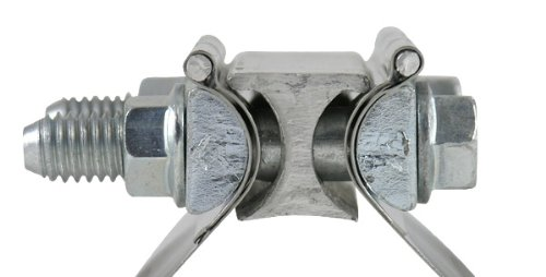 3'' Torca TorcTite Preformed Exhaust Lap Joint Clamp, Brushed Stainless Steel