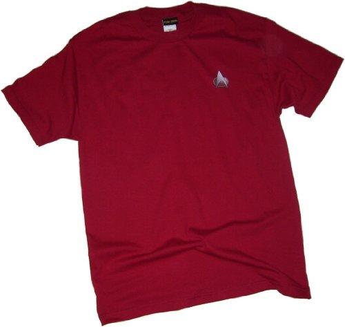 Star Trek: The Next Generation Command Red Uniform Adult T-Shirt, (Star Trek Tng Uniforms)