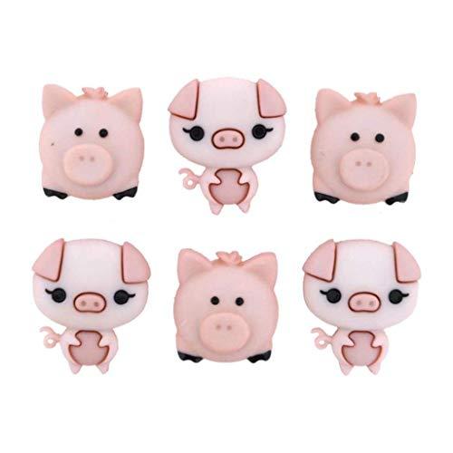Jesse James Dress It Up Embellishments-Pig Pen