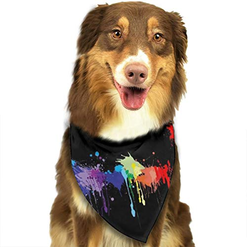 Pet Scarf Dog Bandana Bibs Triangle Head Scarfs Hip-hop Print Accessories for Cats Baby Puppy]()