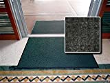 All Purpose Heavy Duty Entrance Mat - ''FloorGuard Diamond'' - 4' x 20' - Charcoal - Indoor or Covered Outdoor - Commercial or Residential