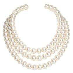 Round Multi Strands Imitation Pearl Vintage Necklace