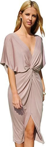 Trend Director Women's Draped Knotted Front Slit V, used for sale  Delivered anywhere in USA