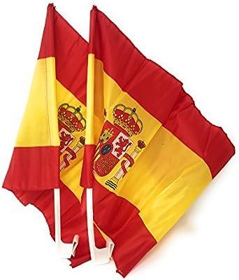 N et K Bandera de España para coche, paquete de 2-2: Amazon.es: Hogar