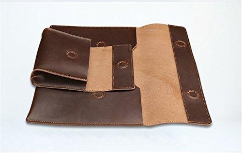 Xiaoqin Il sacchetto interno del iPad della borsa del computer portatile di Macbook della borsa del computer portatile di 2 in 1 degli uomini in 1 ha adatto a affare casuale Brown
