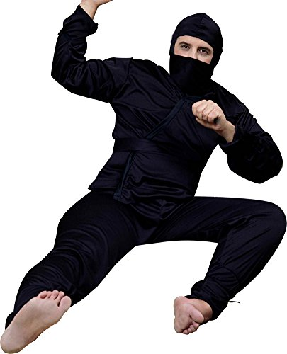 Black Ninja Costume For Men (Forum Complete Ninja Costume, Black, One Size)