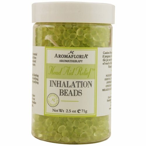 HEAD AID RELIEF by Aromafloria INHALATION BEADS 2.5 OZ BLEND OF TEA TREE, ROSEMARY, AND PEPPERMINT 2.5 Ounce Inhalation Beads