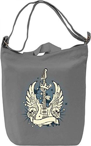 Guitar king Borsa Giornaliera Canvas Canvas Day Bag| 100% Premium Cotton Canvas| DTG Printing|