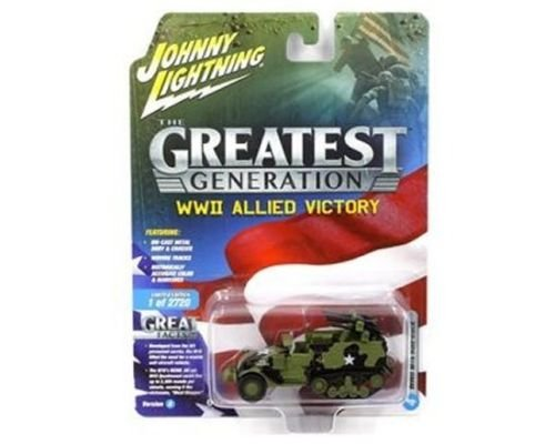NEW DIECAST TOYS CAR JOHNNY LIGHTNING 1:64 THE GREAT GENERATION WWII ALLIED VICTORY - M16 HALF TRACK ( 1:87 ) JLCP7070-24
