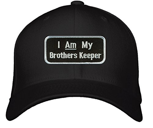 I Am My Brother's Keeper Hat - Adjustable Mens Black - Religious Genesis Bible Cap