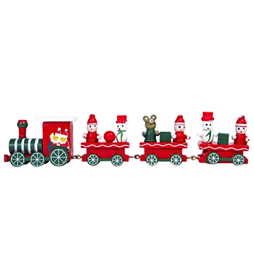 Pausseo Christmas Woods Small Train Children Kindergarten Festivel Garden Outdoor Decoration Pendant Hotel Lobby Family Home House Party Decor Ornaments (Red) ()