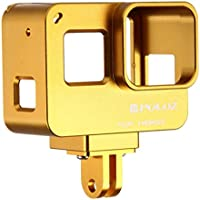 PULUZ Housing Shell CNC Aluminum Alloy Protective Cage with Insurance Frame for GoPro HERO5 Action Camera (Gold)