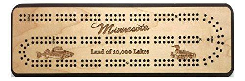 - Minnesota Travel (Land of 10,000 Lakes) Cribbage Board