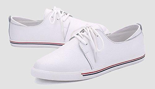 Respirant Pour Blanc Femme 40eu Casual dérapant Chaussures Jrenok Sneakers Doux 35 Confortable En Cuir De Sport Mode Anti qU6aWBIw