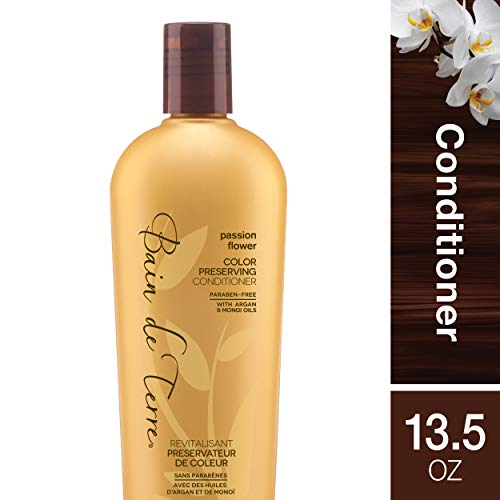 Bain de Terre Passion Flower Color Preserving Conditioner, with Argan and Monoi Oil, Paraben-Free, 13.5-Ounce