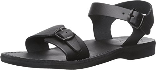 Jerusalem Sandals Men's The Original Flat Sandal, Black, 45 EU/12 M US