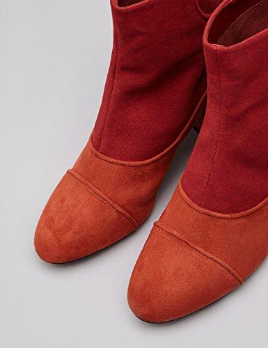 1960 Stivali Trovare Delle Zip Indietro Guardare Camoscio Rosso Nel Multicolore Donne ruggine xTdISqd