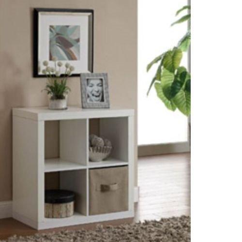Better Homes and Gardens Bookshelf Square Storage Cabinet 4-Cube Organizer White