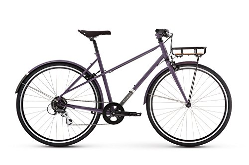 Cheap Raleigh Bikes Carlton 8 Mixte Women's City Bike, Purple, 56cm/Large