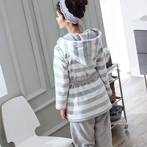 Servicio Moda Cálidos Camisones Femeninos Franela Grueso Pijamas Invierno Cómodos Niñas Coreanas En Traje De Fleece Gray Cálido Hogar Coral zvzYrqw