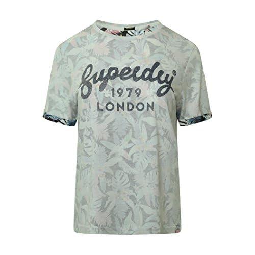 huge discount 39f9c 74654 billig Superdry Damen T-Shirt G10008FQ Geblümt Tropical AOP ...