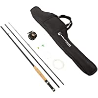 Wakeman Charter Series Fly Fishing Combo with Carry Bag -...