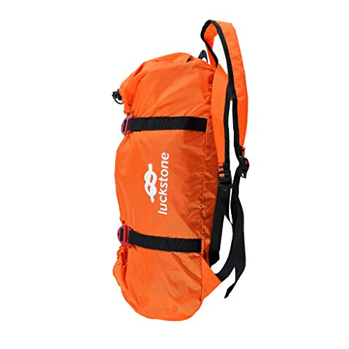 Dovewill Ultralight Folding Rock Climbing Caving Rope Bag Sling Cord Gear Holder Carry Backpack & Ground Sheet - Choice of Color - orange