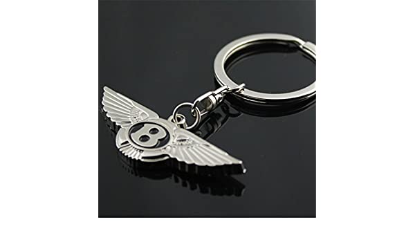 Dreamtao Fashion Metal Fashion Metal Car Logo Keychain Key Chain Keyring Key Ring for Bentley