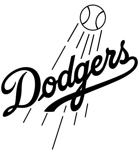 - Los Angeles Dodgers Team Vinyl Wall Stencil Sporting Baseball Club Symbol Art Sticker MLB Fans Decal Sportive Interior Housewares Decor Sports Logo Sign Removable Mural Gift Athletic Decoration Print