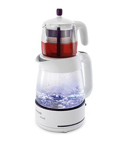 Arcelik 3283 C Tiryaki Glass 2.5 Lt Automatic Electric Turkish Tea Maker Double Kettle Teapot Samovar Tea Machine (Turkish Tea Kettle Electric compare prices)