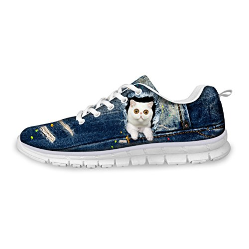 Bigcardesigns Bianco Kitty Da Jogging Scarpe Da Fitness Casual Walking Trainer 37