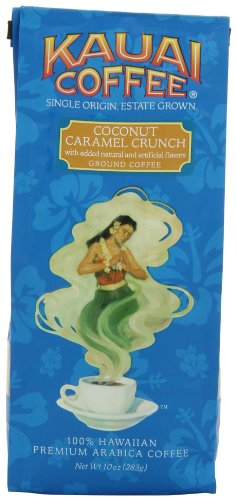 Kauai Coffee Coconut Caramel Crunch Ground, 10 Ounce