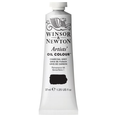 Winsor & Newton Artists' Oil Colour Paint, 37ml Tube, Charcoal Grey