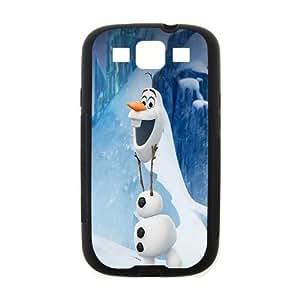Custom Frozen Disney 3D Movie Olaf Cute Snowman Hard Case for SamSung Galaxy S3 I9300 (Laser Technology) by runtopwell