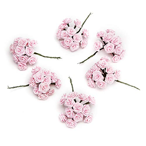Bulk Buy: Darice DIY Crafts Victoria Lynn Ribbon Rose Pink 1 inch 72 pieces (3-Pack) VL6375 -
