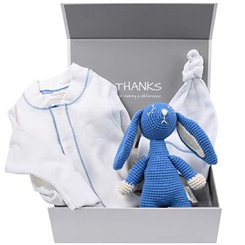 Welcome Baby Boy Gift Box – Organic Baby Essentials (3-6 Months)