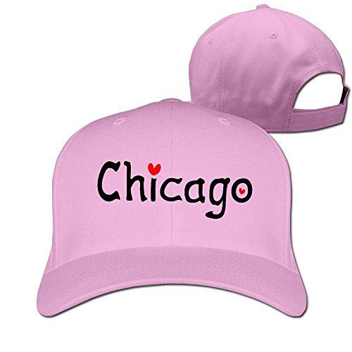 Love Chicago Unisex Adjustable Football Hat & Cap Pink