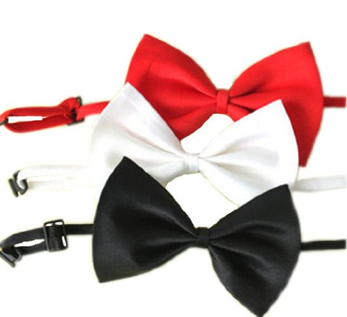 SKL Set of 3 Adjustable Dog Bow Tie Pet Collar Perfect for Wedding Tie Party Accessories, My Pet Supplies