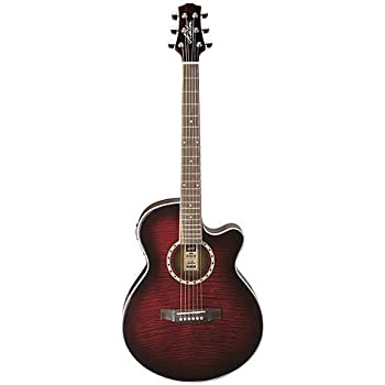 ashton sl series sl29ceqwrs slim line acoustic electric guitar with built in tuner. Black Bedroom Furniture Sets. Home Design Ideas