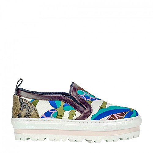 MSGM Multicolor Platform Sneakers 40 by MSGM