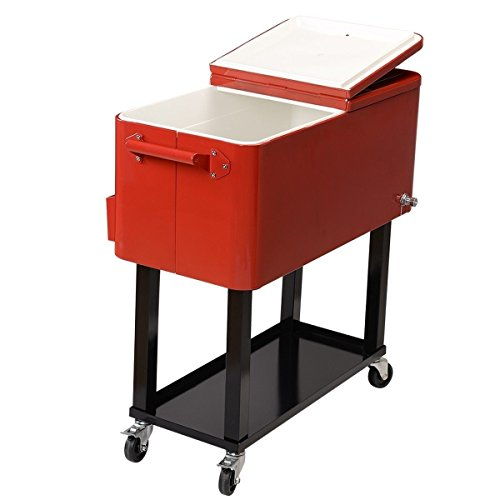 Home Patio Deck Cooler Rolling Outdoor 80 Quart Solid Steel Construction Party .sell#(ideacharms ,ket147131810023637 by itonotry
