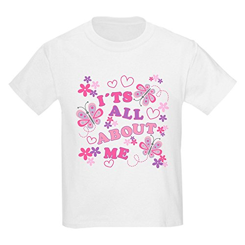 Royal Lion Kids Light T-Shirt Pink Butterflies It's All About Me - White, XL