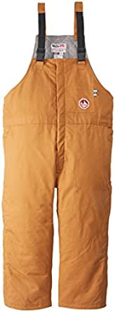 Walls Men's Flame Resistant Insulated Bib Overalls, Brown, LG 0L