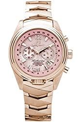 The Abingdon Co Katherine Aviation Watch in Frequent Flyer, Rose Gold and Pink with ALPHABezel