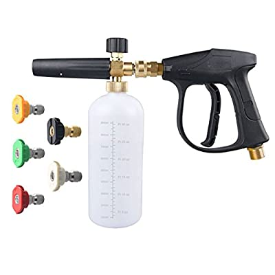 DUSICHIN DUS-018 Foam Cannon Lance Pressure Washer Nozzle Tip Spray Gun 3000 PSI Jet Wash