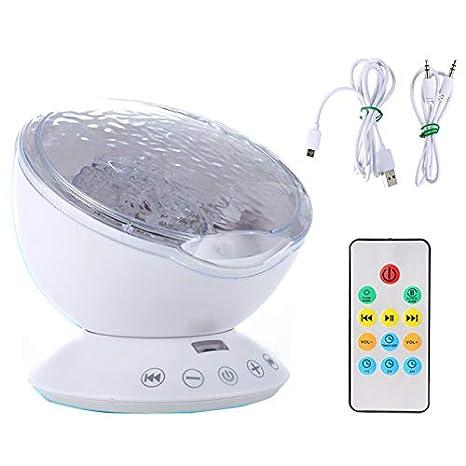 Control remoto del bebé del proyector ligero construido en el ...