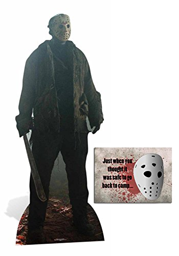 Fan Pack -Jason Voorhees Friday the 13th Lifesize Cardboard Cutout / Standee / Standup - Includes 8x10 Star Photo -