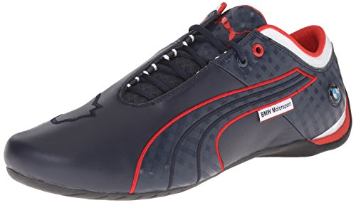 Puma Shoes Racing - PUMA Men's Bmwmsfuturecatm1 Driving Shoe, BMW Team Blue/High Risk Red, 11 M US