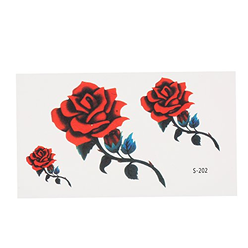 Wholesale Anself Removable Waterproof Temporary Tattoo Stickers Skull Rose Flower Totem Feather Body Arm Art Decoration