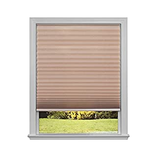 """Easy Lift Trim-at-Home Cordless Pleated Light Filtering Fabric Shade Natural, 30 in x 64 in, (Fits windows 19""""- 30"""")"""